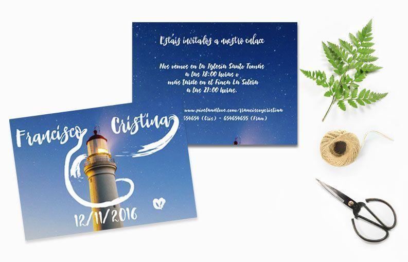 Invitaciones de boda Faro