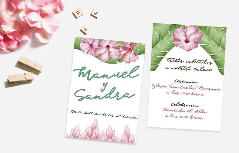 Invitaciones de boda Floral
