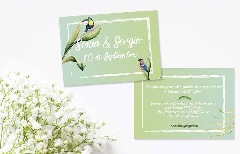 Invitaciones de boda Birdy