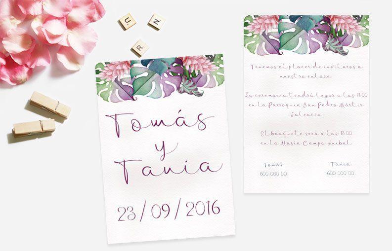 Invitaciones de boda Spring