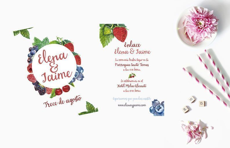 Invitaciones de boda Fruit