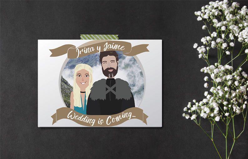 Invitaciones de boda juego de tronos